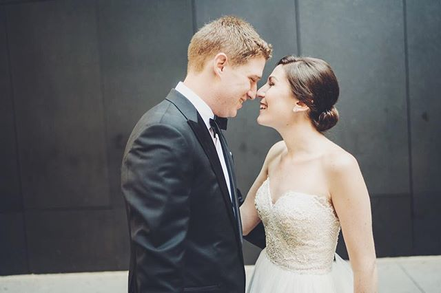 Happy Anniversary to one our sweetest couples @jb_levick! We wish many more years of love to come. // #summerwedding #nycwedding #fieldandfeatherevents #oneyearanniversary