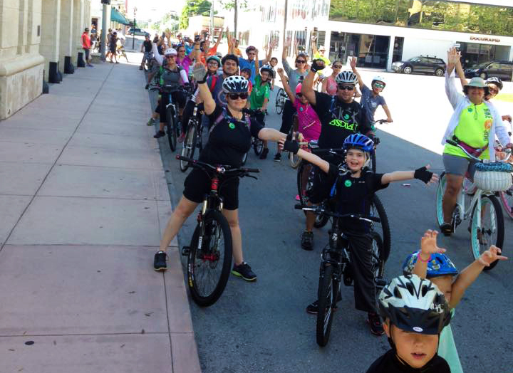 A bike rodeo and Kidical Mass ride for children and families