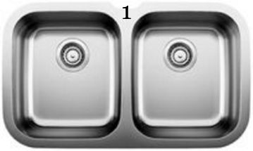 1 Blanco Niagara U 2 Double Undermount Stainless Steel sink (400751).jpg