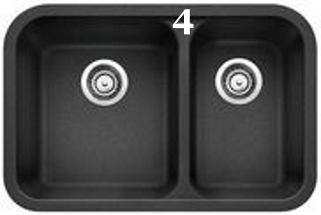 4 Blanco Vision U 1 ½ Double Undermount Kitchen Sink Composite Sink in SILGRANIT ® (Anthracite 401130).jpg