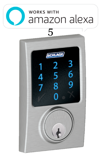 5 Schlage Connect™ Touchscreen Deadbolt with alarm with Century trim Satin Chrome (BE469NX CEN 626).png
