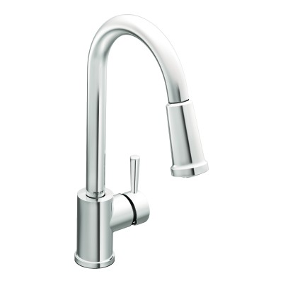 Moen Level Chrome One-Handle High Arc Pulldown Kitchen Faucet (7175).jpg