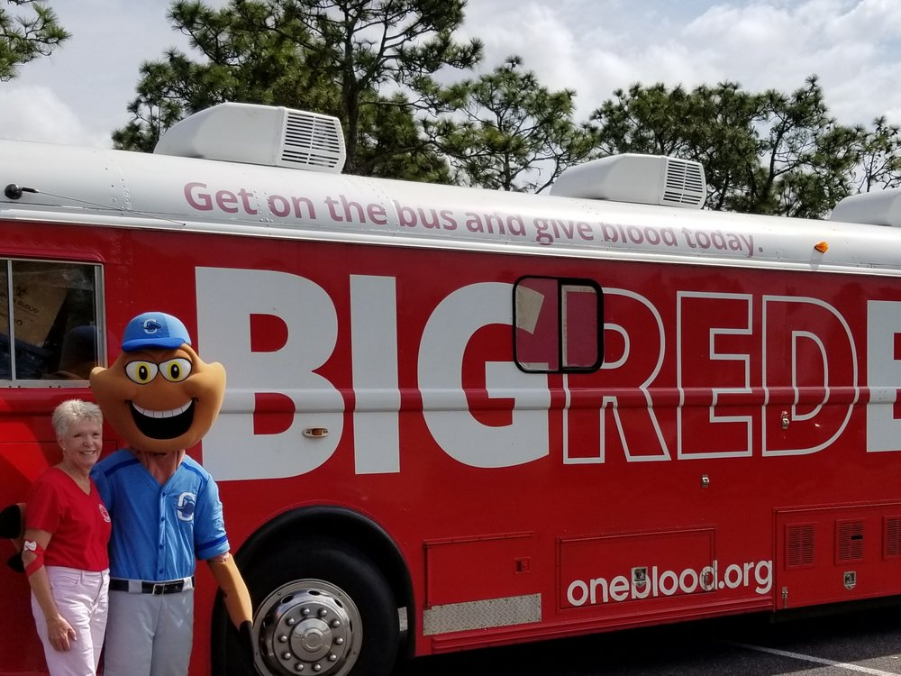 Thanks to Clawford, the Stone Crabs Baseball Team Mascot, and to all of our blood donors who came out to support our first BIG RED BUS Blood Drive at the Rotonda West Community Center! We surpassed our goal!! Hooray for the  Gfwc Rotonda West WC , our friends and wonderful neighbors!