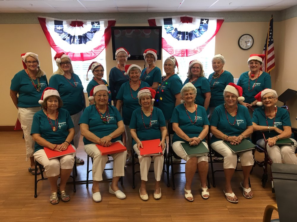 Recently singing their Christmas program to the veterans at the Douglas- Jacobson Veteran's Home in Port Charlotte.