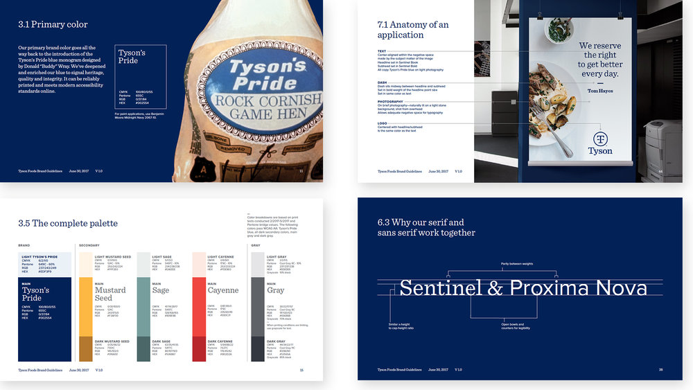 Snippets of the brand guidelines