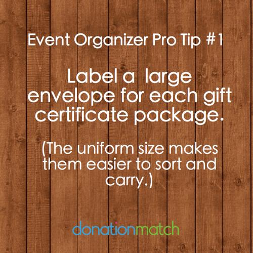Event Organizer Pro Tip
