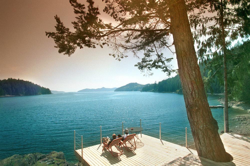 Gambier Island Cottage Deck