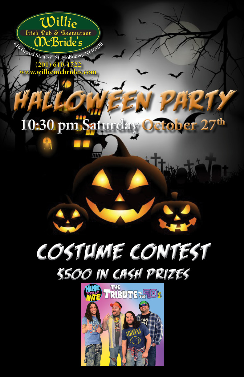 nine deeez nite!! halloween party!! come dressed up! prizes for best