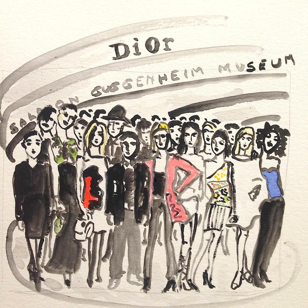 Dior en el Guggenheim.