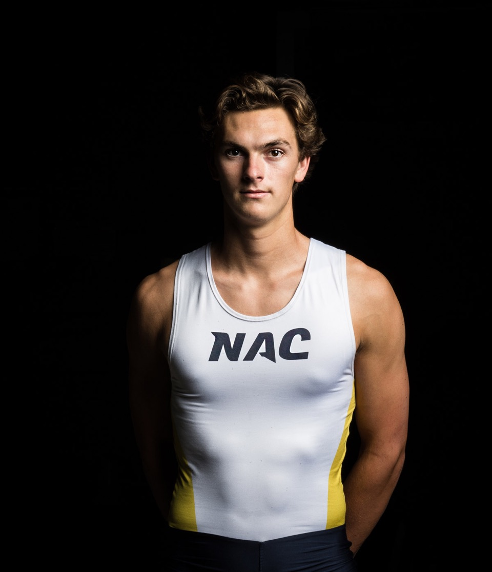Portrait of NHHS athlete at NAC.