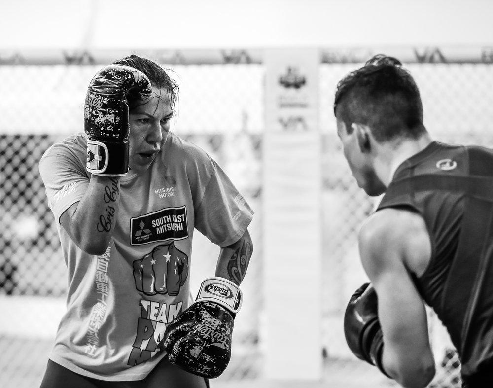 Cris,always focused in the ring.