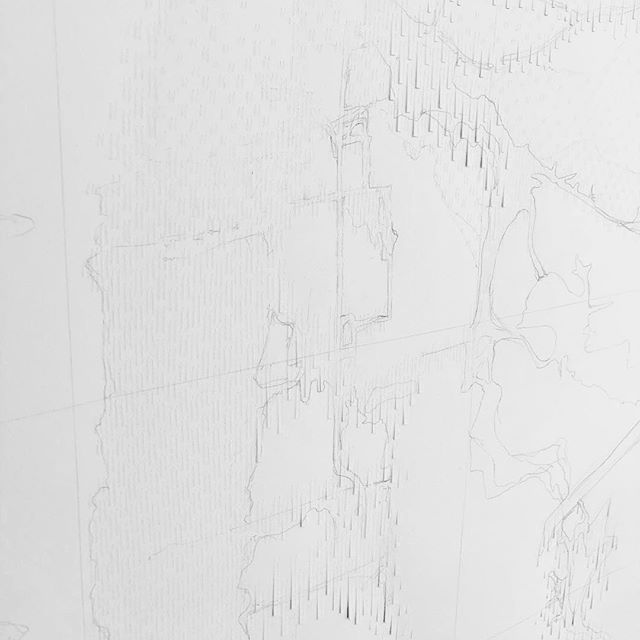 "I'm working on a new piece for the ""Art of Data"" exhibition opening at the Canyon Gallery in Boulder in December. My piece examines the 2013 floods that hit the Boulder area, combining data on the  flood extents and property damage to depict the flood threat. It's been fun incorporating my training in architectural hand drawing to get the precision I need to represent the data. I'm often asked how I started making paper reliefs. My first one was made in architecture school when I used this same technique to represent the City of St. Louis. While I don't usually draw as part of my art practice, I'm looking forward to seeing where this leads, and to reflect how my creative process has shifted over time."