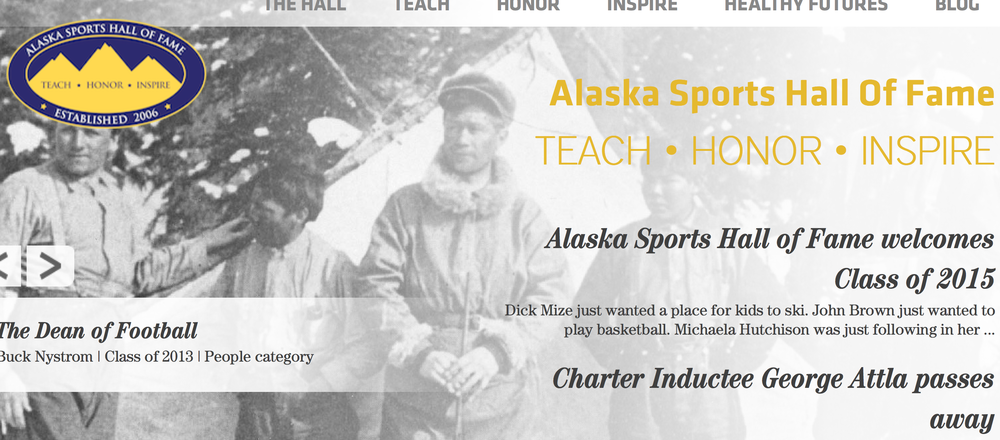 Keep current on sports news and inspirational stories about Alaska's own at the Alaska Sports Hall of Fame!  Links to Healthy Futures material and host of social options!