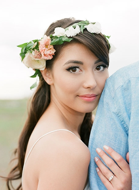 Darrien looks stunning in her engagement shoot with hair and makeup by BE Studio. Photo credit: Gucio Photography