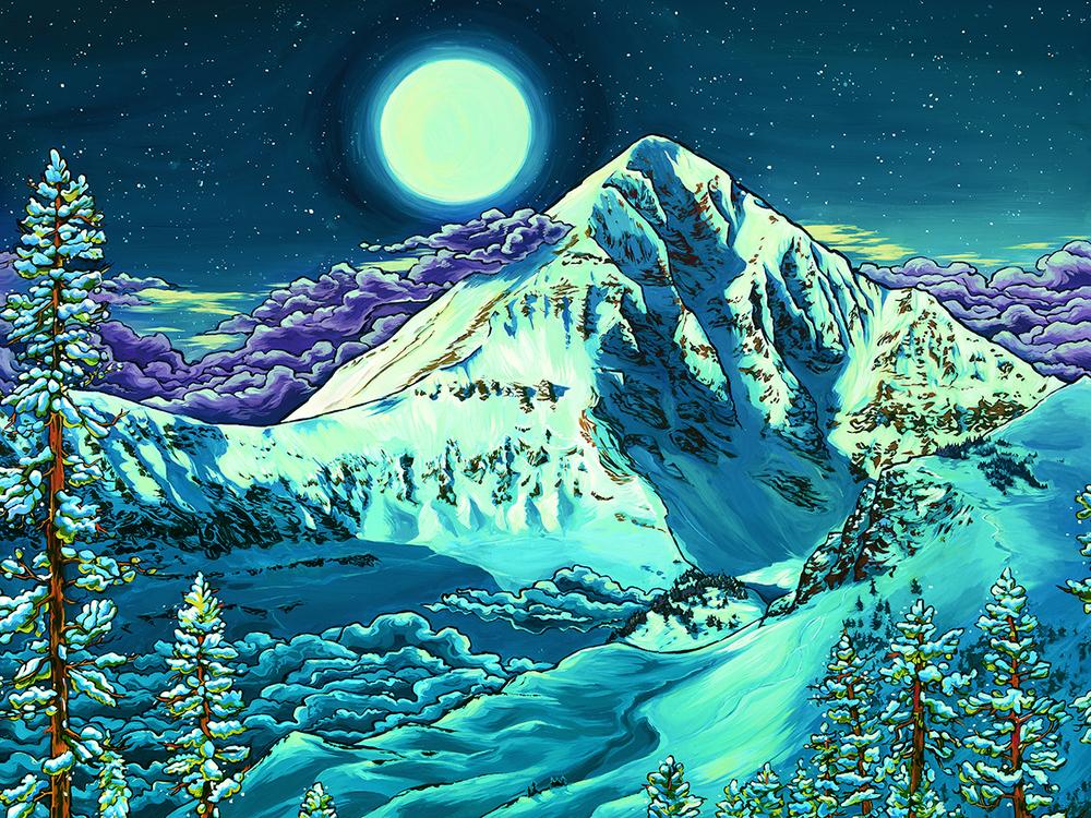 """Lone Peak Moon"""