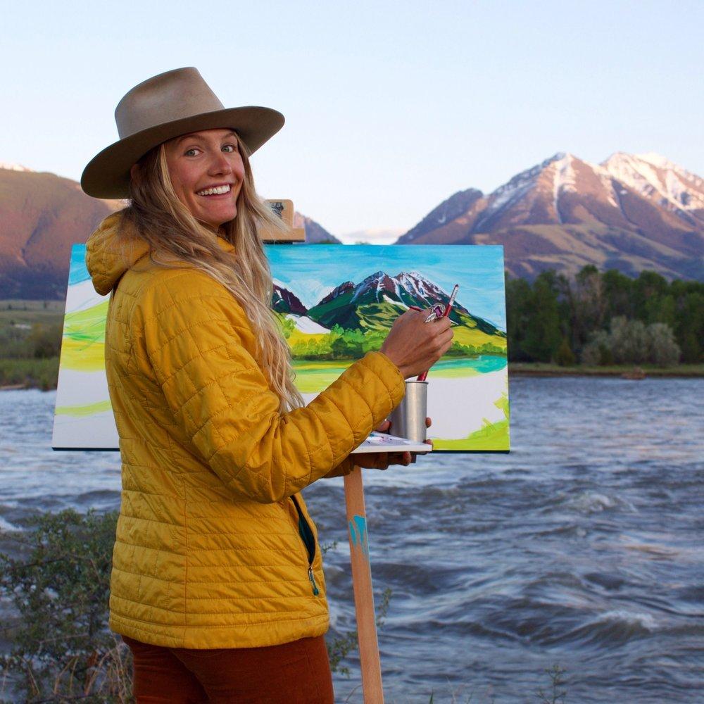 """""""Emigrant Peak"""" // Painting in Progress"""