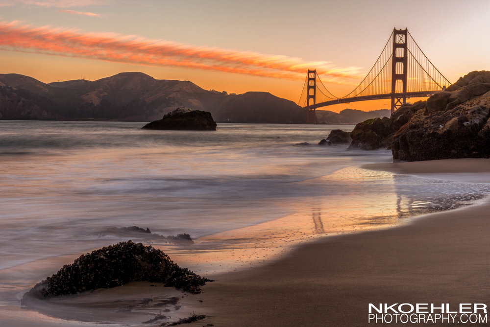 5am early rise to catch this sunrise filling in the bay and Golden Gate Bridge.