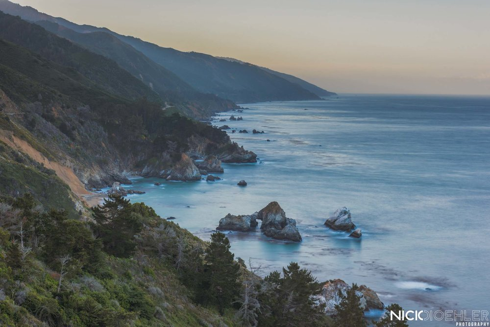Big Sur: A beautiful place to watch and listen to the ocean.