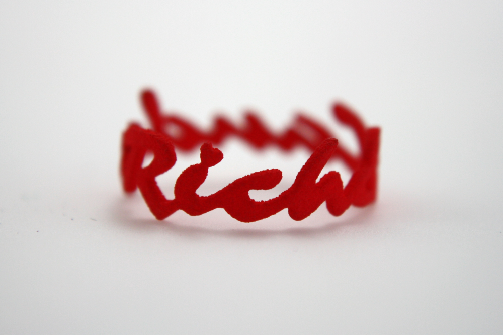 Rich & Candy Cursive Ring