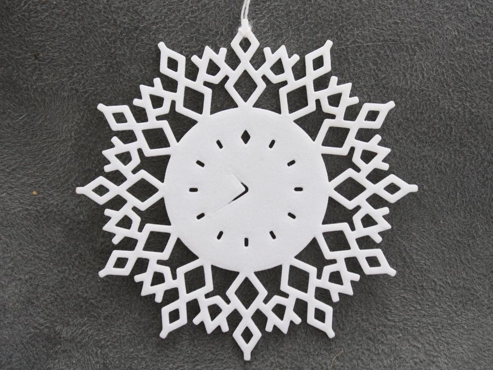 Clock Snowflake - Flat