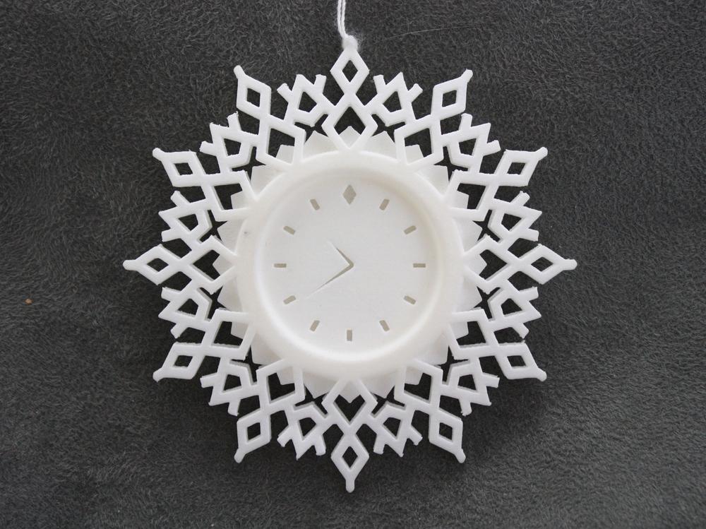 Clock Snowflake - 3D