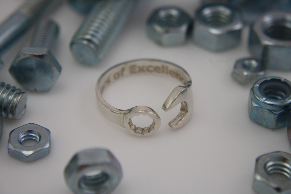 Silver Combination Wrench Ring