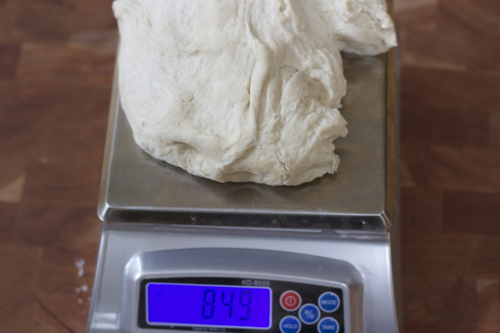 measure the dough, I love a digital scale.