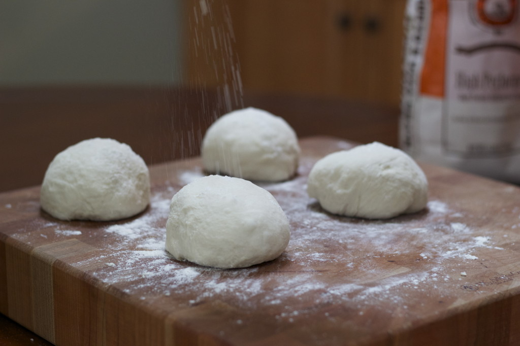 pizza dough balls.