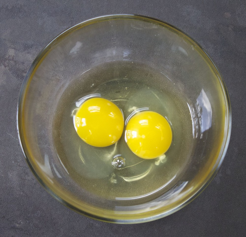 eggs cracked in a bowl