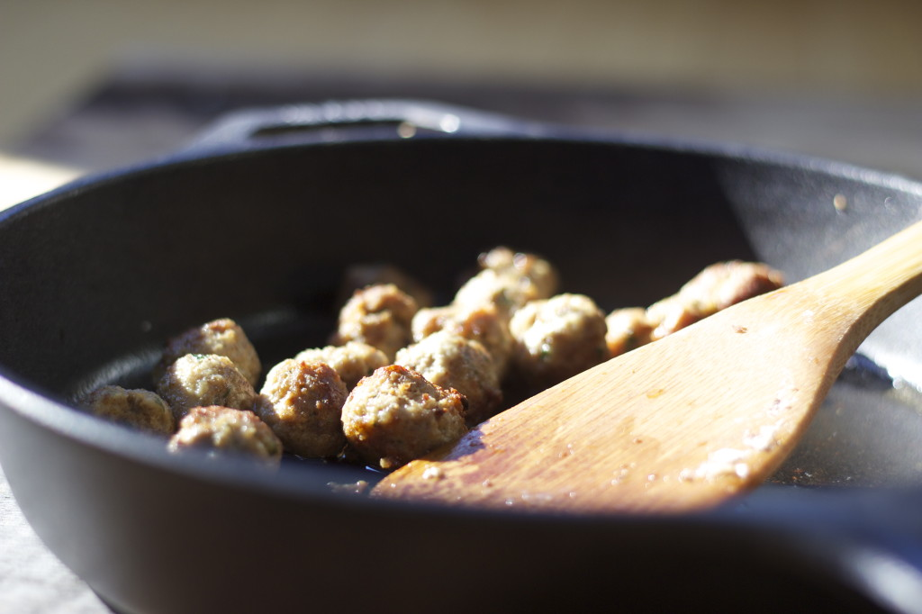 precook your meatballs