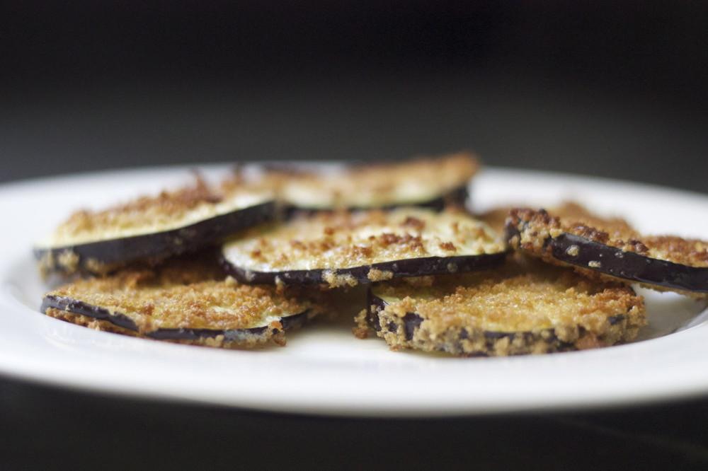 crisped eggplant