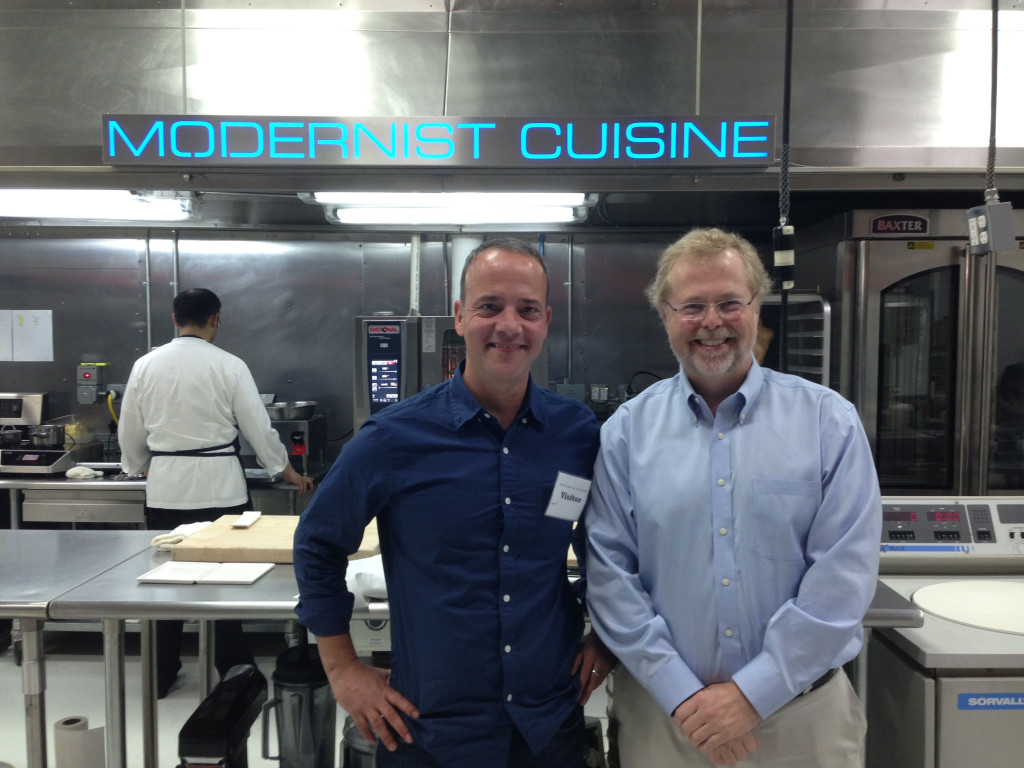 Nathan Myhrvold and I at the Modern Cuisine headquarters kitchen