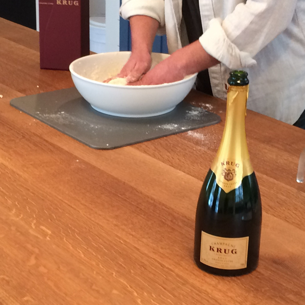 mix krug champagne dough