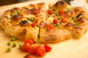 Easy Pizza Recipe - Roasted Tomato, Prosciutto & Pea