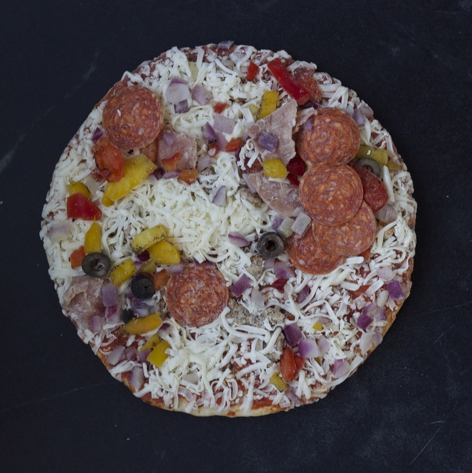 After removing the packaging, you may need to reorganize the toppings.