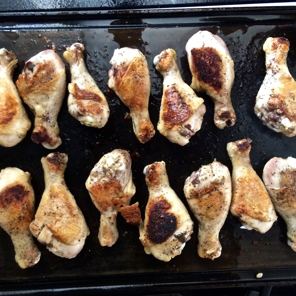 Griddle chicken drumsticks