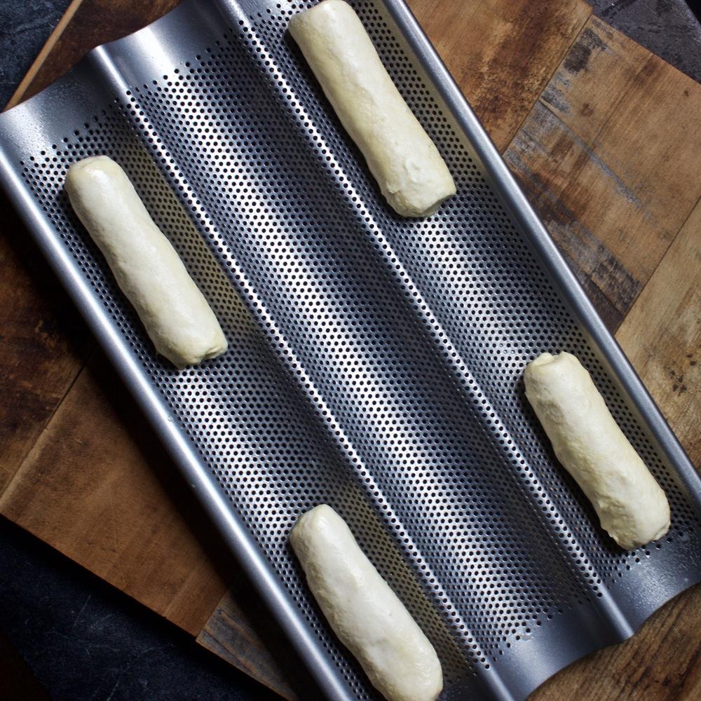 Brioche buns for hotdogs