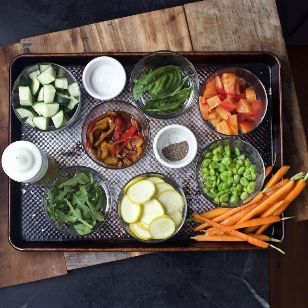 salad mis en place