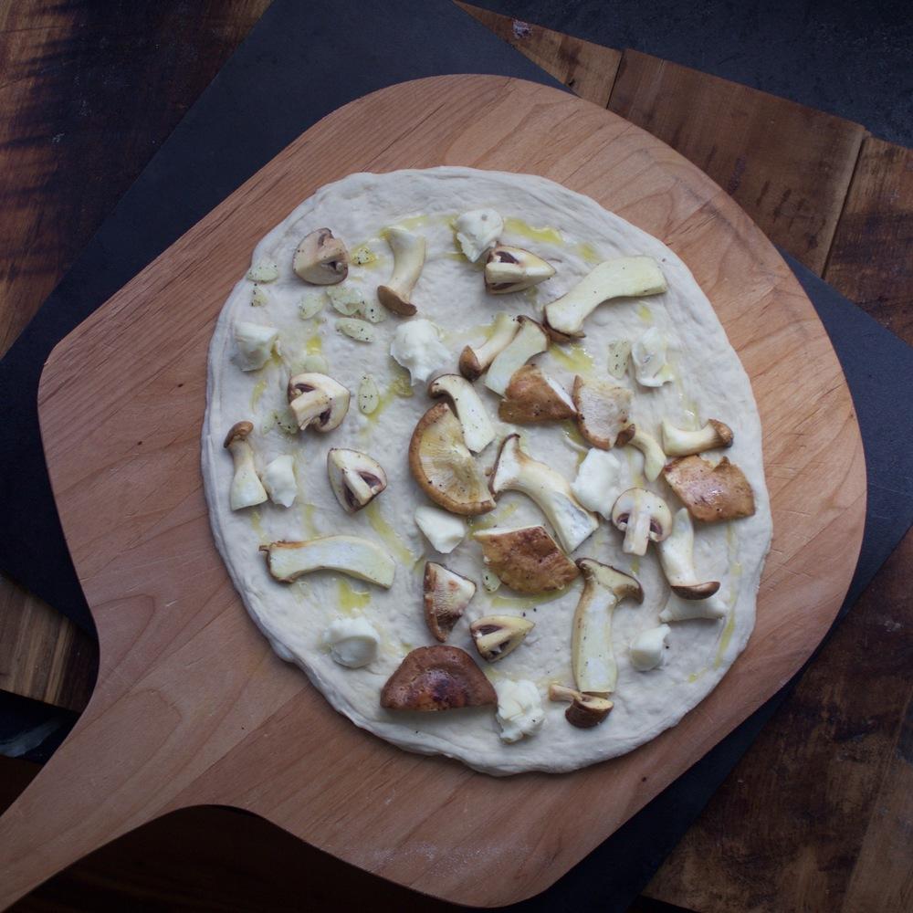 Prelaunch mushroom pizza