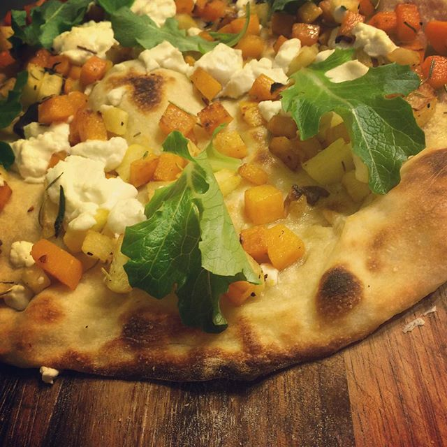 @joyfulgirl_37 . Heidi. Just stop it. Too good. Goat cheese and Butternut Squash.