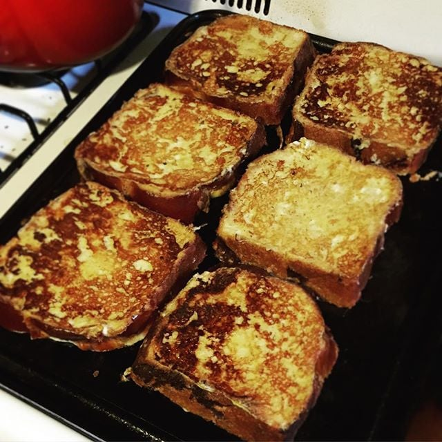 Baileys, French Toast, Baking Steel Griddle. Sounds like a lovely morning  @lindseytimko .