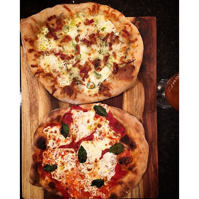 @andycunningham  showing his pizza spread. Nice work!