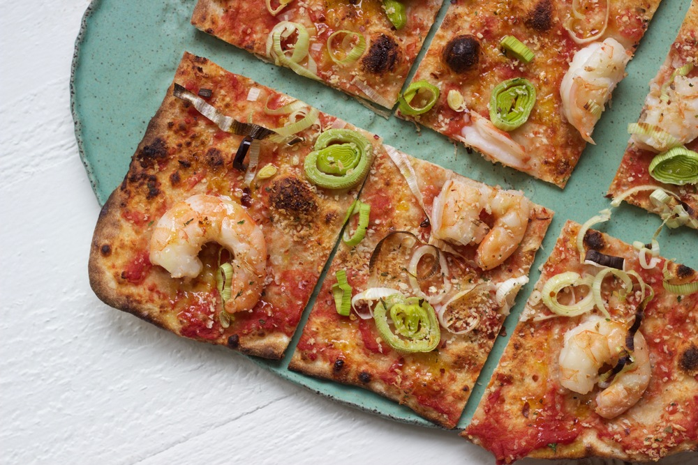 Homemade Shrimp Pizza