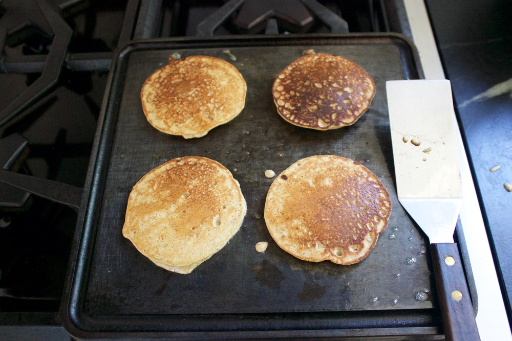 The Mini in action with Paleo pancakes