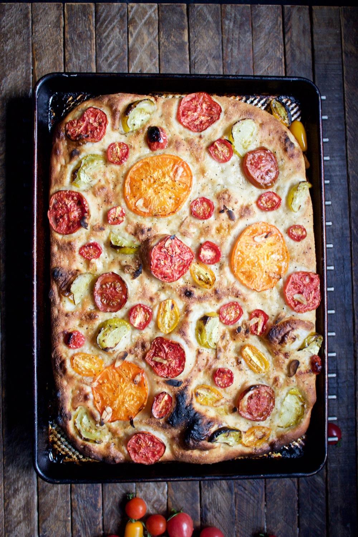 homemade tomato focaccia