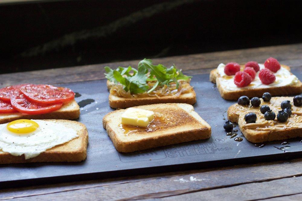 toast on the Baking Steel