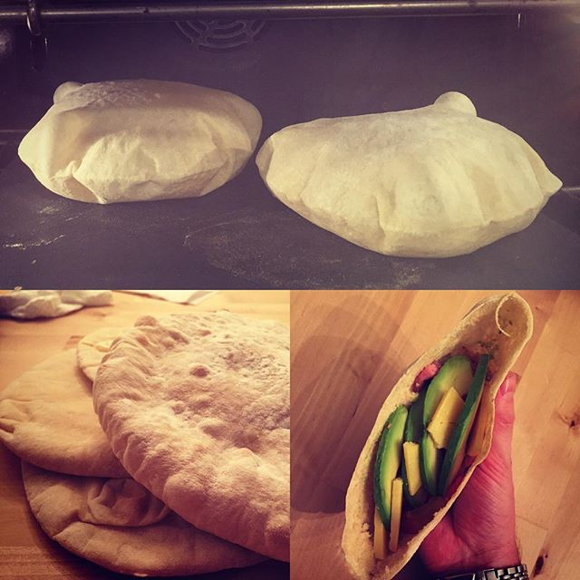 @romeo_romayo  making pitas on the Baking Steel. Love the shots you got hear. Great idea.