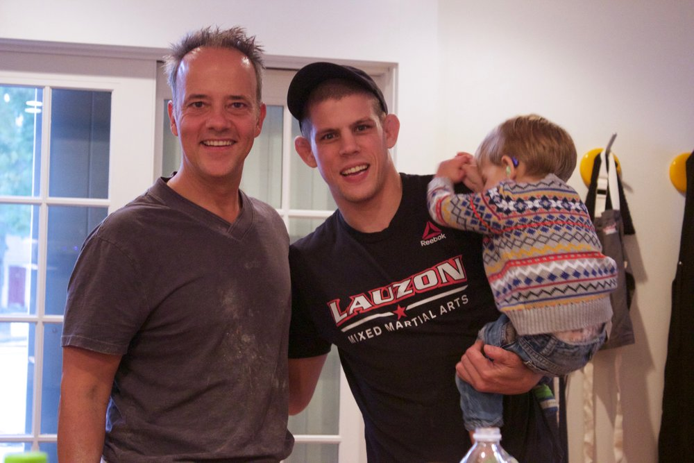 Joe Lauzon & Son with Andris Lagsdin