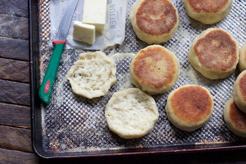 the split english muffin