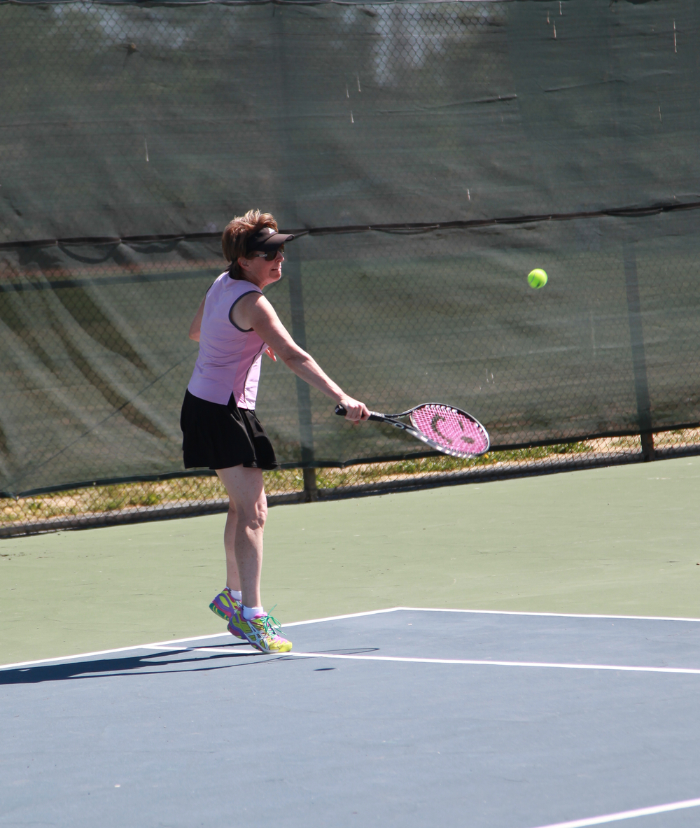 Meredith Young with her killer slice backhand